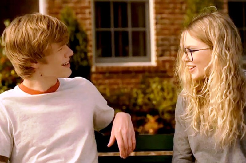 Taylor Swift with Lucas Till