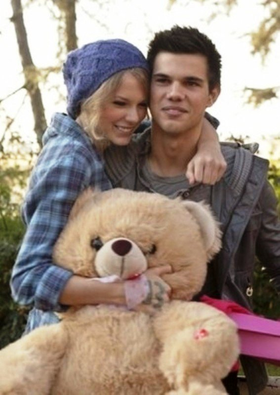 Taylor Swift with Taylor Lautner