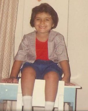 Tina Tharwani in childhood