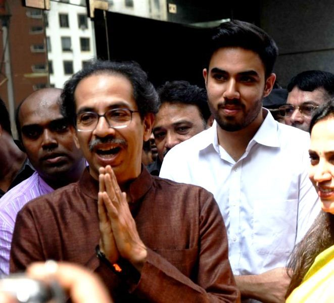 Uddhav Thackeray with his son Tejas Thackeray