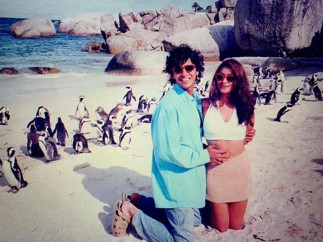 An old picture of Bhavana and Chunky Panday