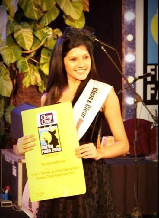 Ashrita Shetty as the winner of Clean & Clear Fresh Face competition
