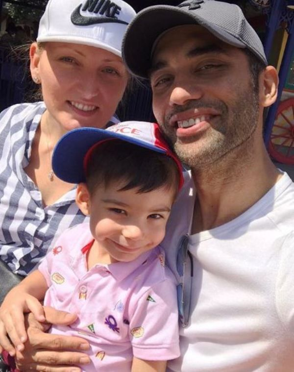 Audrey Dolhen with Husband Kushal Punjabi and their Son