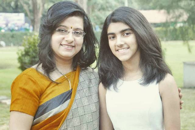Dona Ganguly with her daughter, Sana Ganguly