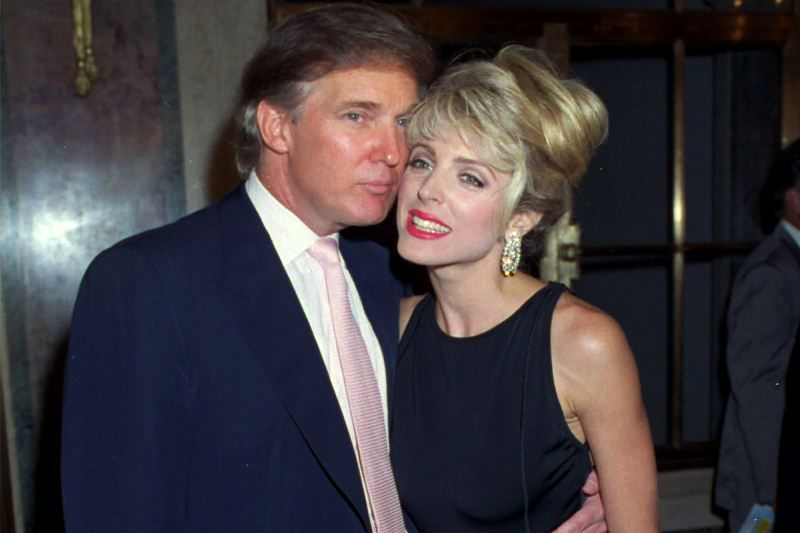 Donald Trump with Marla Maples