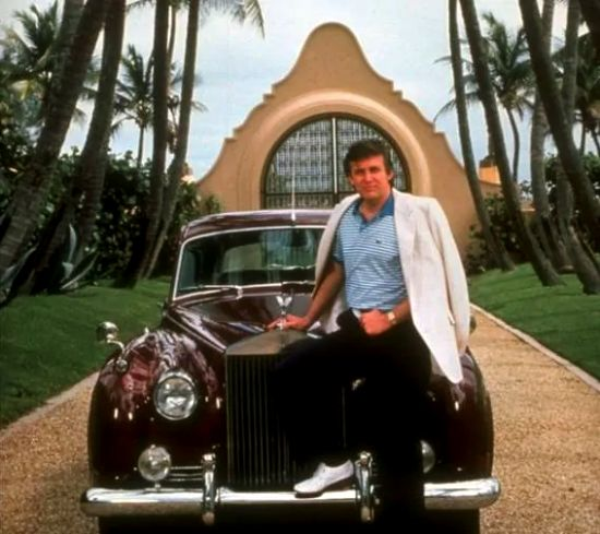 Donald Trump with his 1965 Rolls-Royce Silver Cloud