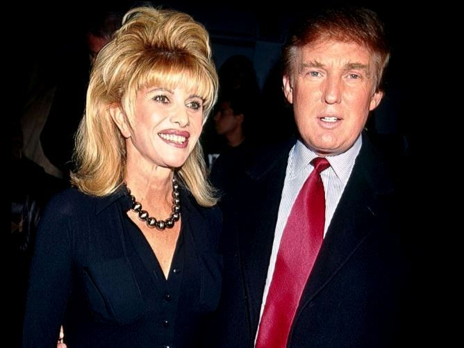 Donald Trump with his former wife Ivana Trump