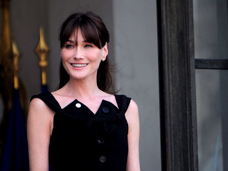 Donald Trump's former girlfriend Carla Bruni