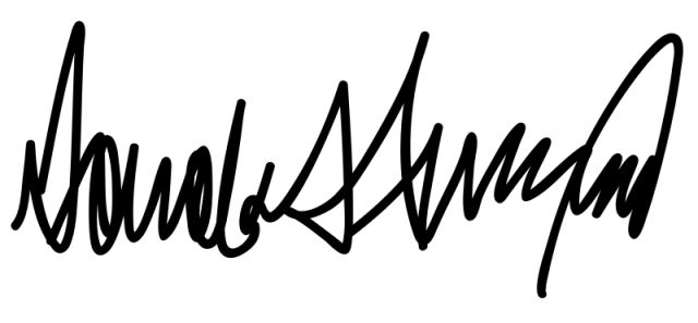 Donald Trump's signature