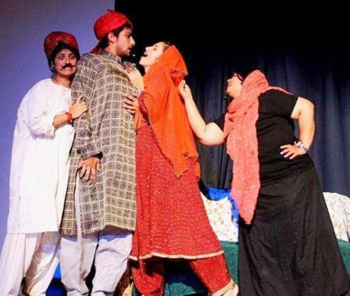 Fahmaan Khan in a Theatre Play