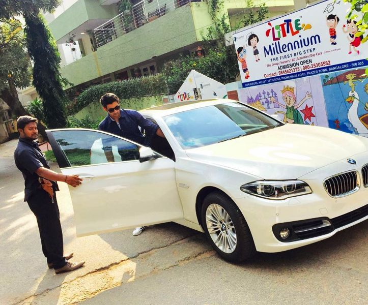 Fahmaan Khan with His Car