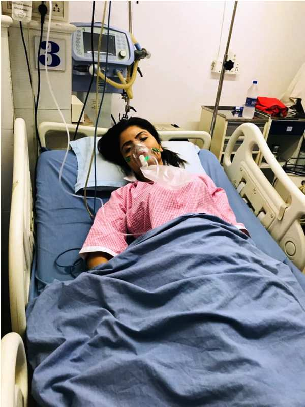 Gehana Vasisth in Hospital