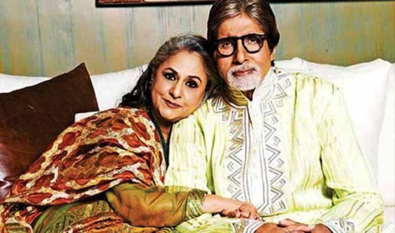 Jaya Bachchan with Amitabh Bachchan
