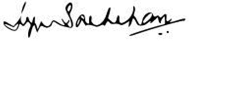 Jaya Bachchan's Signature
