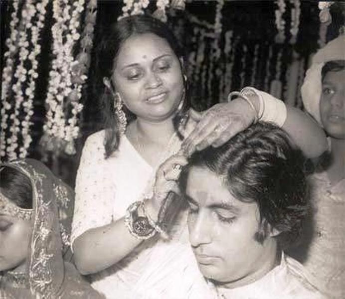 Jaya Bachchan's Sister with Amitabh Bachchan