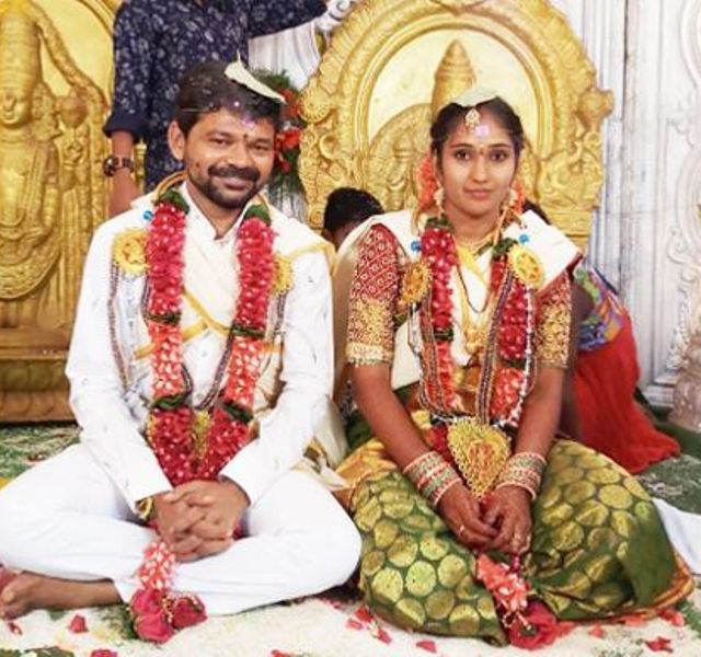 Jogi Naidu with his wife Soujanya