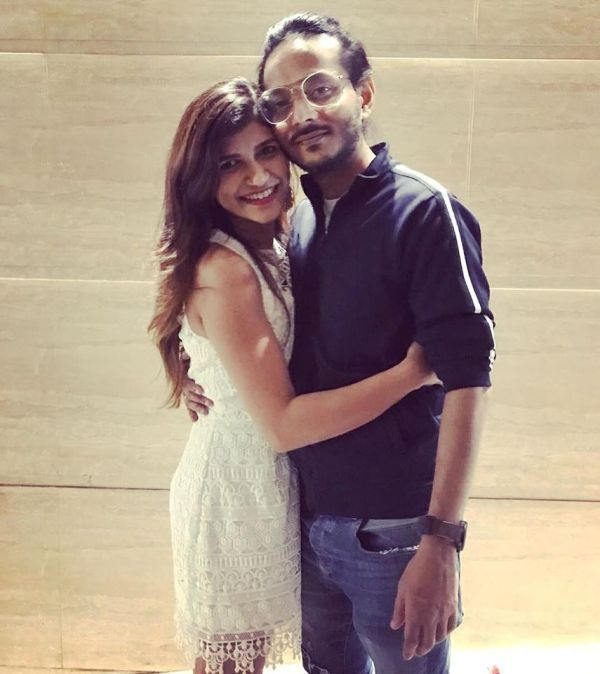 Kanishk Bagchi with his Wife