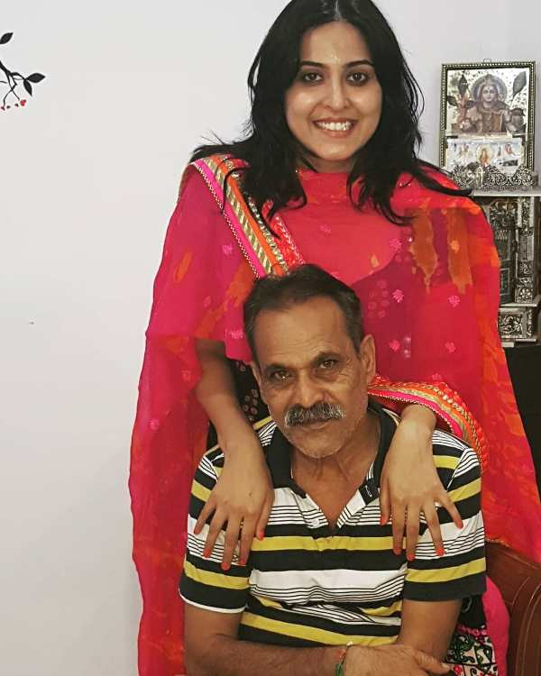 Monika Bhadoriya with her father