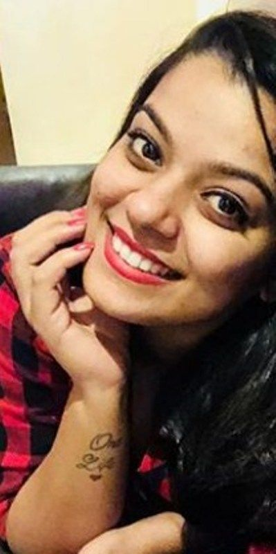 Nidhi Jha posing with her Tattoo