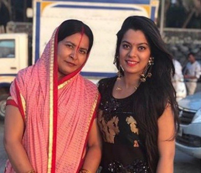 Nidhi Jha with her mother