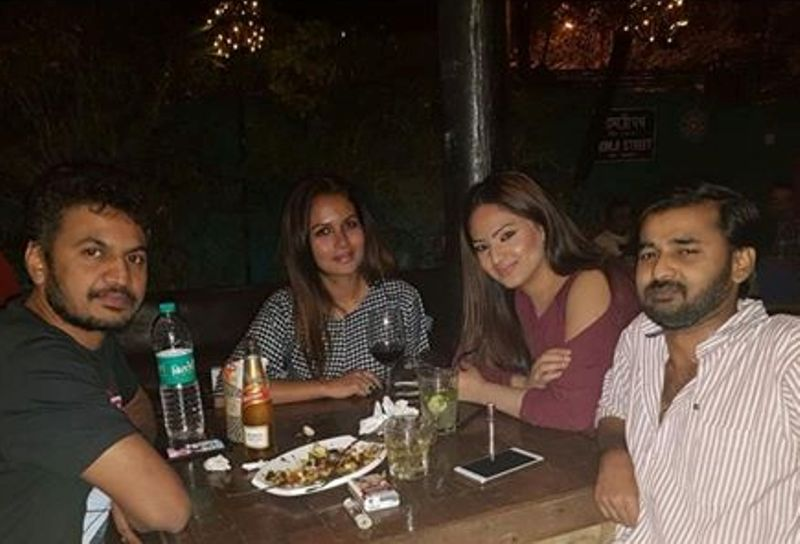 Nikesha Patel Consuming Alcohol with her Friends