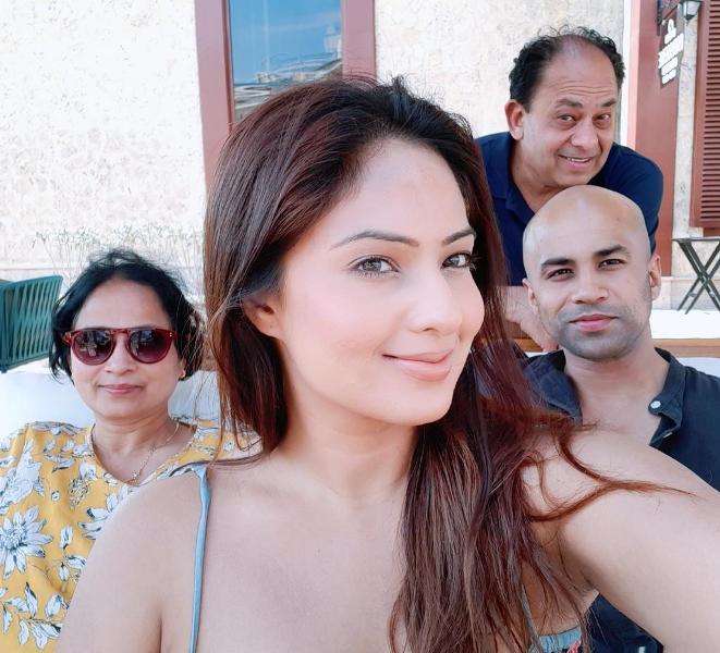 Nikesha Patel with her Family