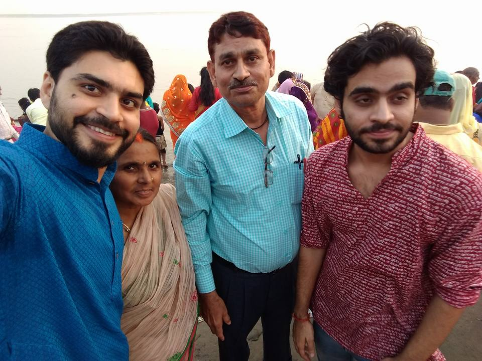 Satish Ray with his family