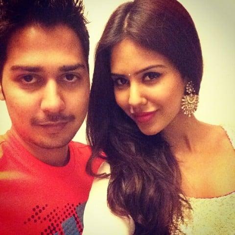 Sonam Bajwa and her brother