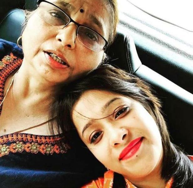 Sweta Tripathi with Her Mother