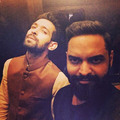Vikrant Massey with his brother