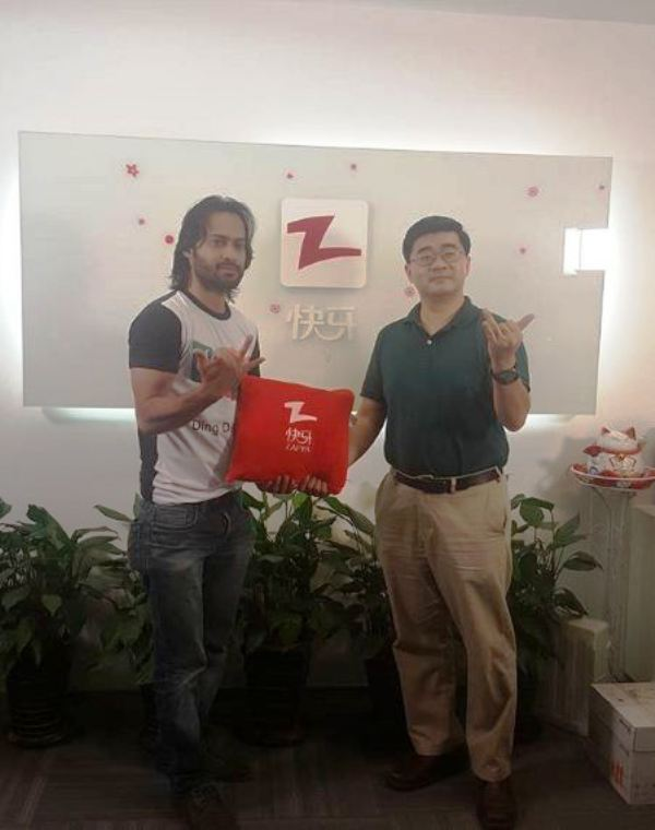 Waqar Zaka at Zapya's Head Office