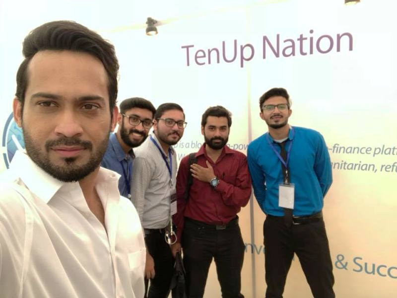 Waqar Zaka with his TenUp Nation Team