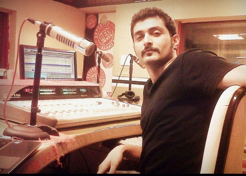 Aadil Khan at Red FM's Radio Station