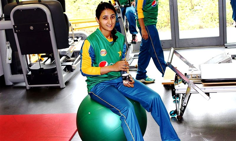 Bismah Maroof during her early years as a cricketer