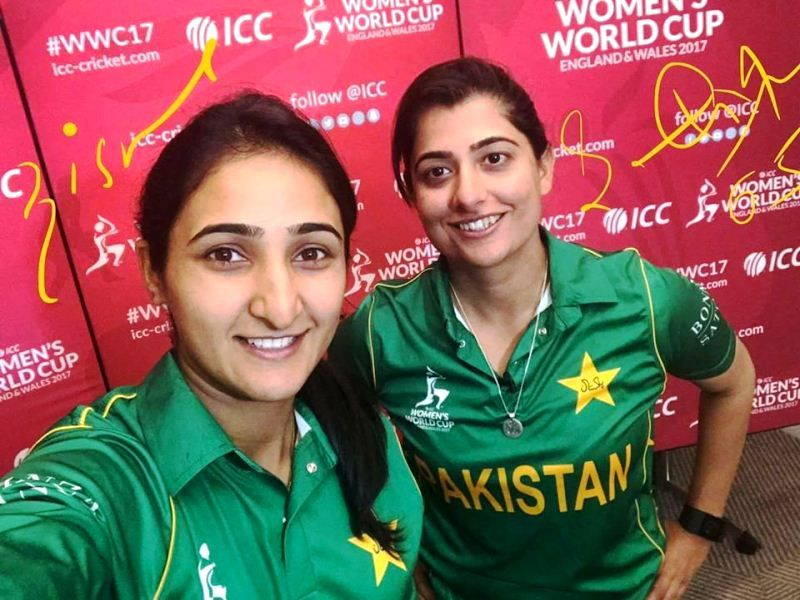 Bismah Maroof with Sana Mir (right)