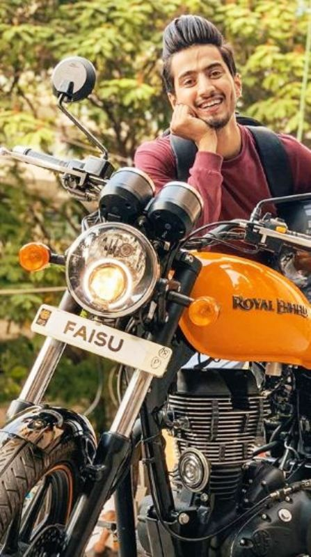 Faisal Shaikh Posing with His Motorcycle