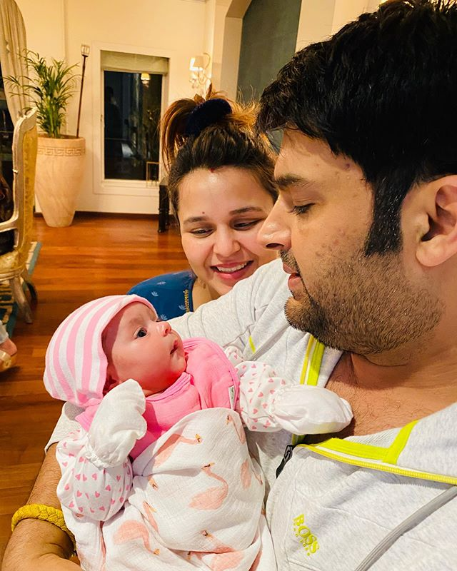 Kapil Sharma with his daughter Anayra Sharma