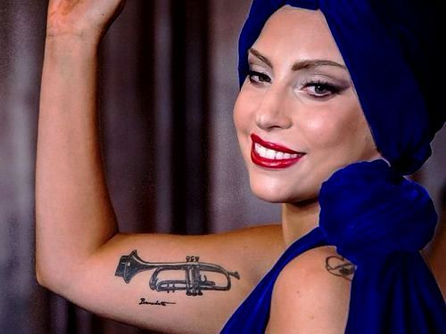 Lady Gaga's Trumpet tattoo