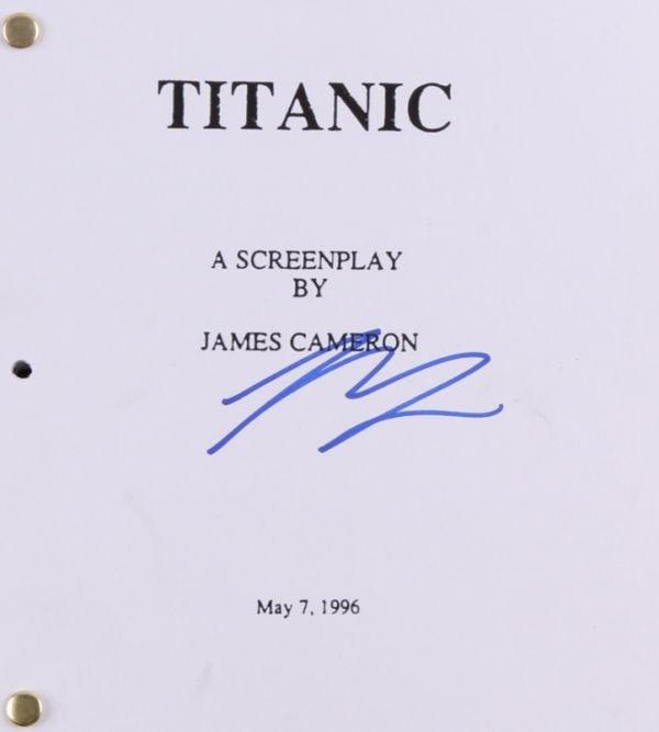 Leonardo DiCaprio Signed Titanic Script