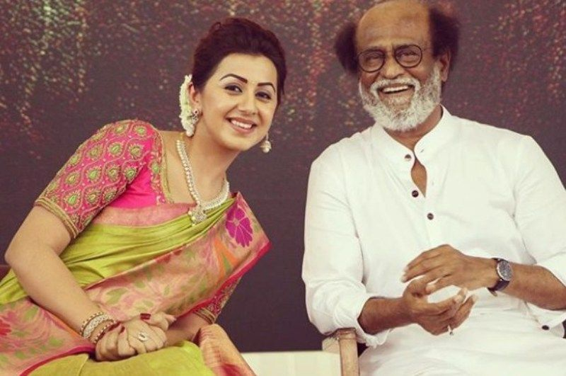 Nikki Galrani with Rajinikanth