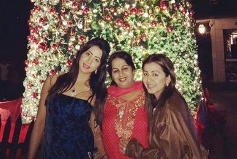 Nikki Galrani with her Mother and Sister