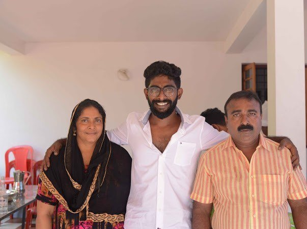 Pareekutty Perumbavoor with his parents