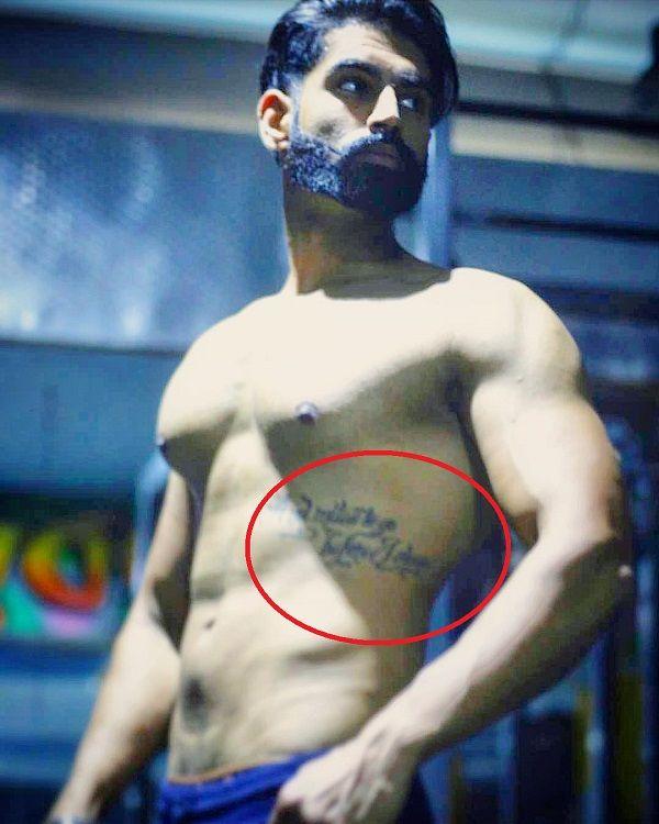 Parmish Verma gut tattoo