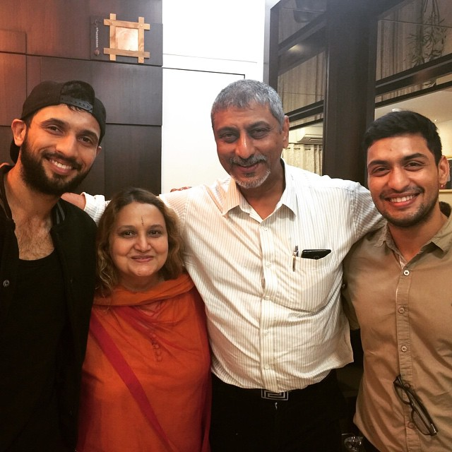 Punit Pathak and his family
