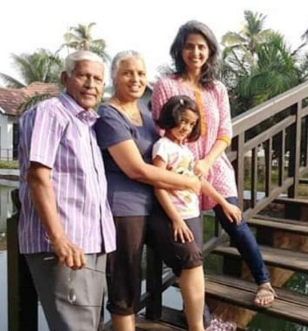 Rajini Chandy with Her Husband, Daughter, and Grand Daughter