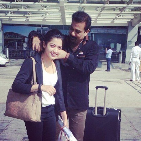 Rashmika Mandanna with her father