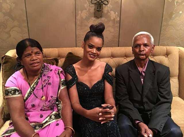 Renee Kujur with her parents