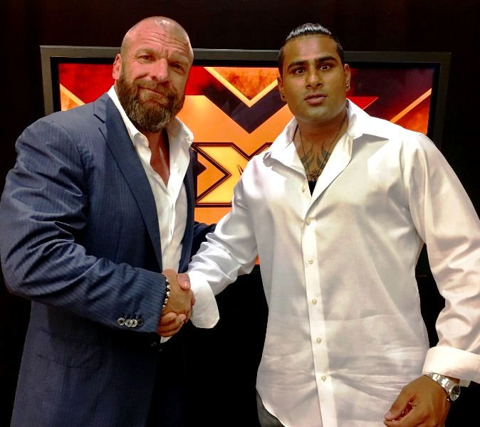 Rinku Singh with Triple H