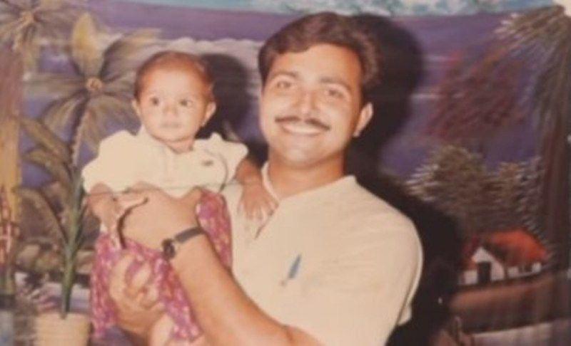 Riya Mavi with her Father