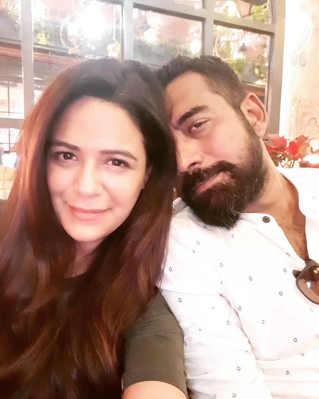 Shyam Gopalan with his wife Mona Singh